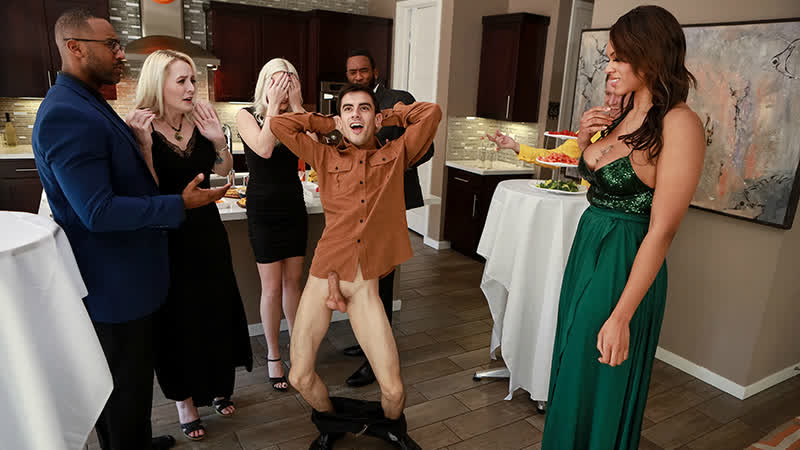 Brazzers Halle Hayes A Wild Crazy Cock Stuffing Party New