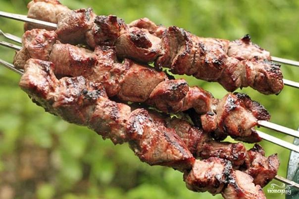 Мягкий шашлык из баранины    Нарежьте баранину для...
