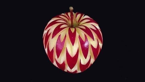 Карвинг по яблокам