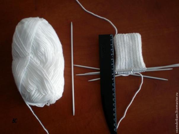 Вяжем детские носочки  Вязать будем обычные носочки из одного...