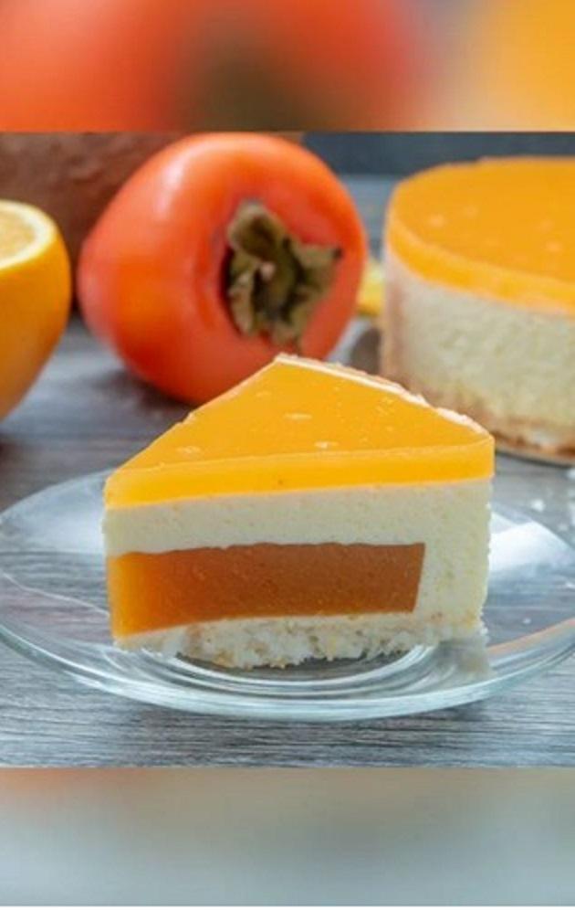 Муссовый тортик из Хурмы и Апельсина