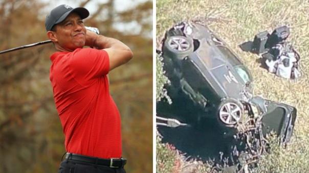 Американский гольфист Тайгер Вудс попал в автомобильную аварию....