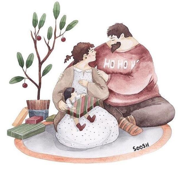 ???? Художница изображает любовь в милейших русунках!