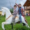 Детская конная школа при детском доме Мышкино.