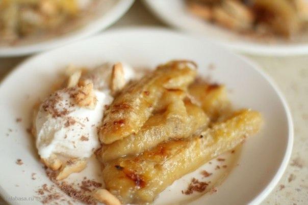 Десерт из запеченных бананов - очень вкусно и...
