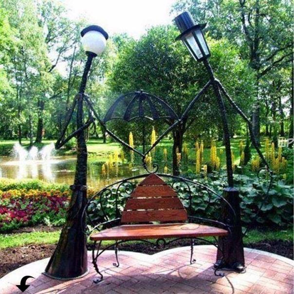 Чудный дизайн скамейки ????