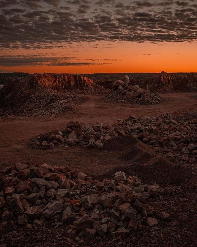 Гранитный карьер - малоизвестное дикое место неподалеку от Выборга