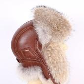 Мужская шапка ушанка из волка (Канада) GL