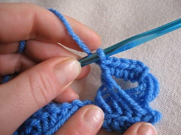 Ажурное снуд. Перуанское вязание