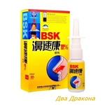 Спрей для носа BSK с ионами серебра, 20 мл. Обладает антибактериальным и бактериостатическим воздейс