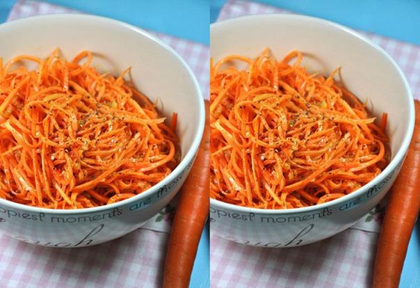 Морковь по корейски.