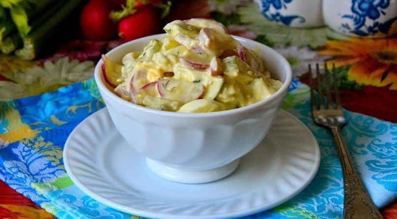 Дачный салатик из редиски