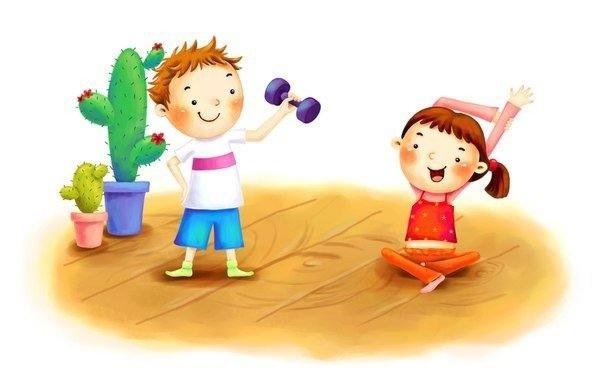 Веселая зарядка для детей