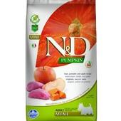 FARMINA N&D беззерновой корм для собак мелких пород Кабан с Яблоком и Тыквой 2,5кг