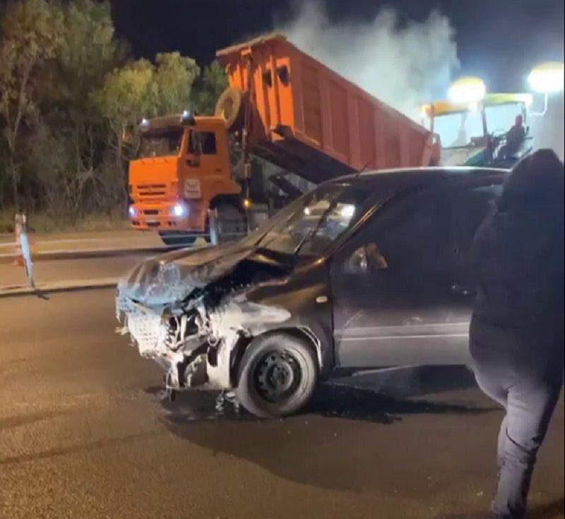 Пробка и пострадавшие: на Загородном шоссе в Оренбурге произошло ДТП