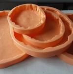 Садовая плитка ПЕНЬКИ - 5 видов. Комплект полиуретановых форм.