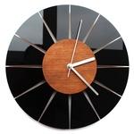 Чёрные настенные часы в стиле минимализма