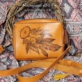 Мини-сумка через плечо «Белочка». Дизайн для примера