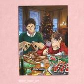 А4 постер-открытка - Ива чан и Ойкава