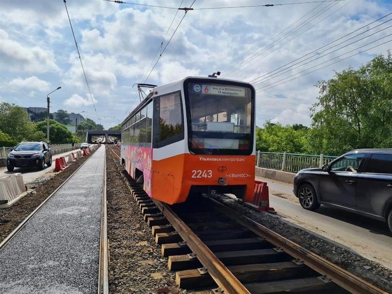 В Ульяновске полностью восстановили движение трамвая № 6