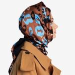 Платок женский леопардовый принт