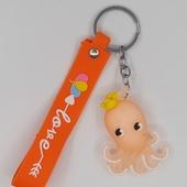 """Брелок для ключей """"ОСЬМИНОГ"""" (оранжевый)"""