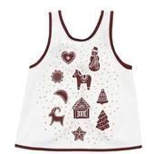 Фартук детский, орнамент «имбирное печенье» белый/коричневый2–4