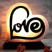 """Соляной светильник """"Фигурный"""" Сердце Love 2-3кг белая соль"""