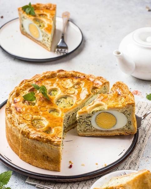Пирог с сыром, шпинатом и яйцами    Ингредиенты:...