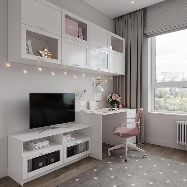 Очень милая детская комната для девочки школьного возраста