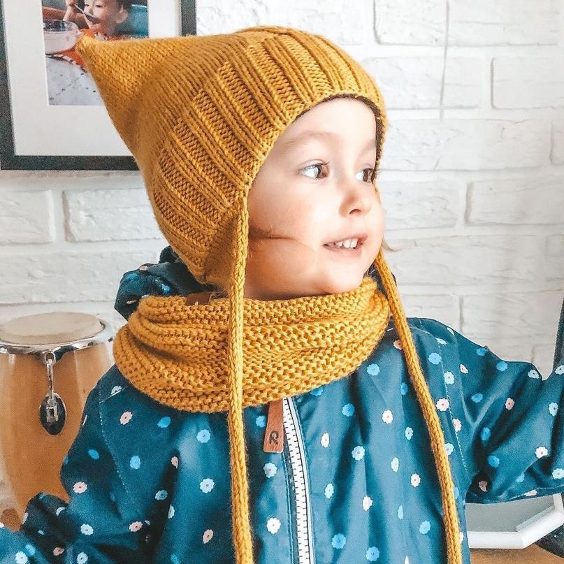 Простая детская шапочка.
