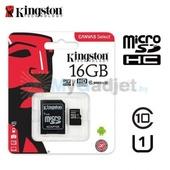 Карта памяти Kingston microSDHC 16GB (с адаптером)