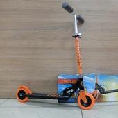 Самокат складной детский STROLLY STR-023 (2021) Оранж/Чёрный