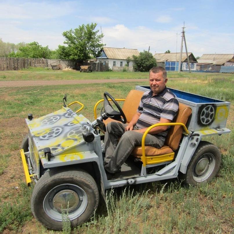 Житель Оренбургской области собрал электрокар своими руками