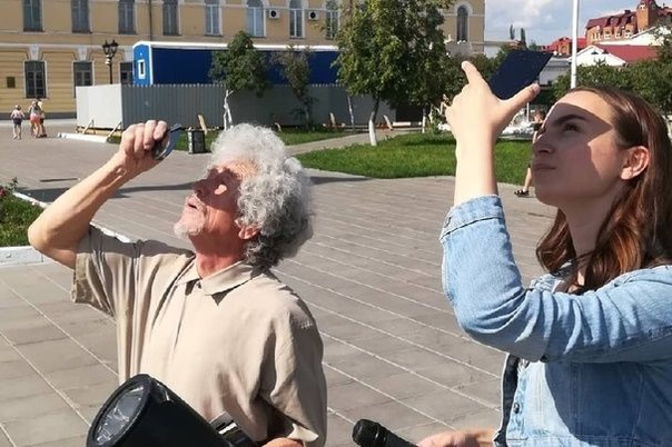 В Оренбурге астрономы-любители запечатлели солнечное затмение