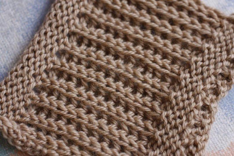 Английская резинка. Описание вязания