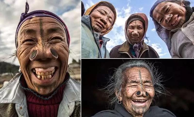 Удивительные обычаи индийского племени, где женщины должны носить пробки в ноздрях