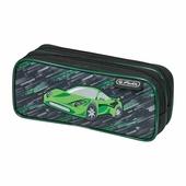 Пенал-косметичка Herlitz 2 молнии Green Car