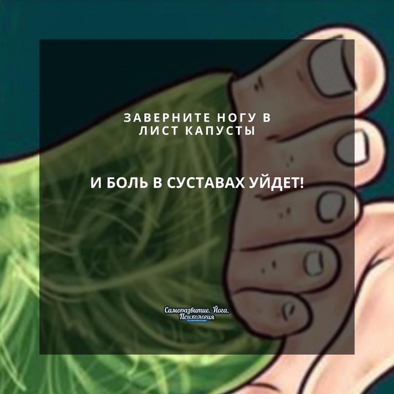 Заверните ногу в лист капусты- и боль в суставах уйдет!