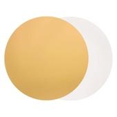 Подложка для торта, диаметр 32 см 0,8 мм (двухсторонняя золото/белое)