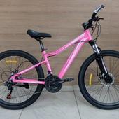 """Велосипед COM GT 610 Алюминий, Disc (2021) 26"""" Розовый/Белый"""