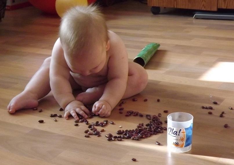 Занятия с детьми с 9-10 месяцев - игры с крупами