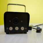 Дым-машинка напольная 400Вт, с подсветкой и радиопультом АКЦИЯ