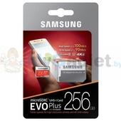 Карта памяти Samsung EVO Plus microSDXC 256GB + адаптер