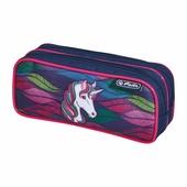 Пенал-косметичка Herlitz 2 молнии Rainbow unicorn