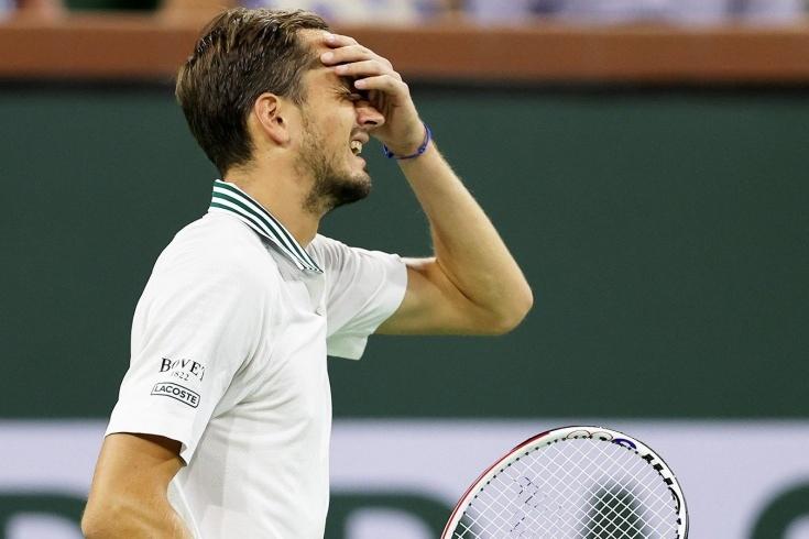 Ужасный провал Медведева в 4-м круге Индиан-Уэллса!  Даниил отдал...