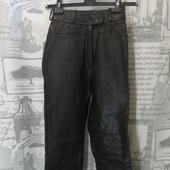 (1551)Мотоштаны кожаные, размер 36(ХХS)