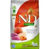 FARMINA N&D беззерновой корм для собак мелких пород Кабан с Яблоком и Тыквой 800г