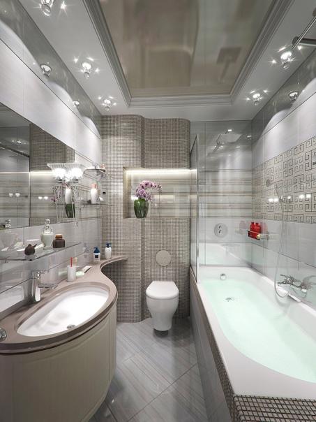 Дизайн интерьера ванной комнаты????