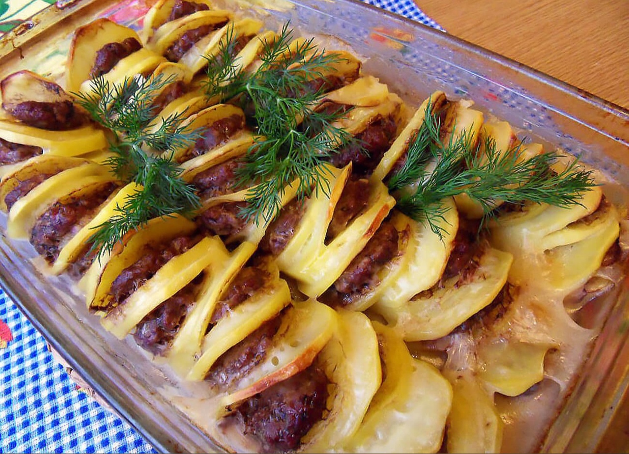 «Пьяный картофель» с фаршем 🍴